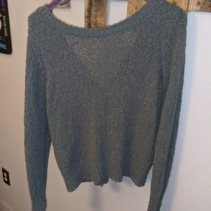 Final price drop!  Grey knot back sweater